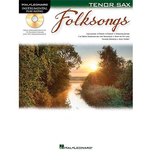 Hal Leonard Folk Songs For Tenor Sax  Instrumental Play-Along Book/CD-thumbnail