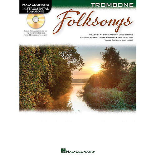 Hal Leonard Folk Songs For Trombone  Instrumental Play-Along Book/CD-thumbnail