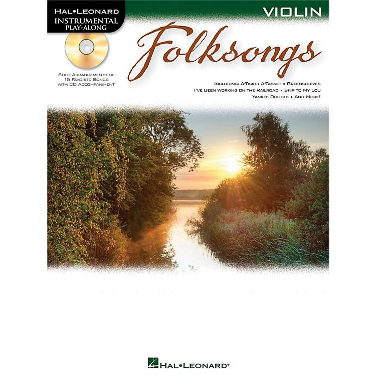 Hal LeonardFolk Songs For Violin  Instrumental Play-Along Book/CD