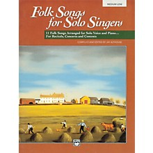Alfred Folk Songs for Solo Singers Vol. 1 Book & CD (Medium Low)