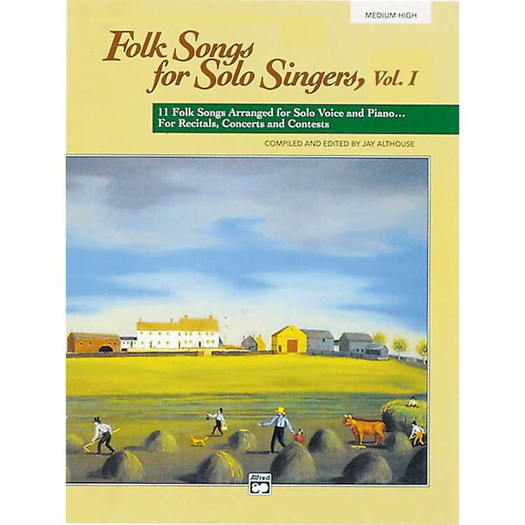 Alfred Folk Songs for Solo Singers Vol. 1 Book (Medium High)