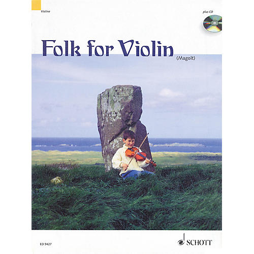 Schott Folk for Violin (in Very Easy Arrangements for 1-2 Violins) Schott Series Composed by Hans Magolt-thumbnail
