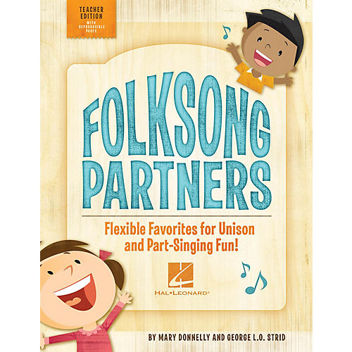 Hal Leonard Folksong Partners (Flexible Favorites for Unison and Part-Singing Fun!) CLASSRM KIT by George L.O. Strid-thumbnail