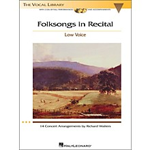 Hal Leonard Folksongs In Recital for Low Voice Book/2CD's
