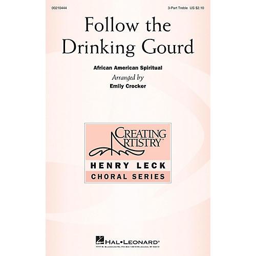Hal Leonard Follow the Drinking Gourd 3 Part Treble arranged by Emily Crocker-thumbnail