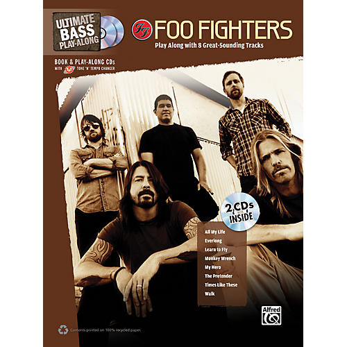 Alfred Foo Fighters Ultimate Play-Along Bass TAB Book & 2 CDs-thumbnail