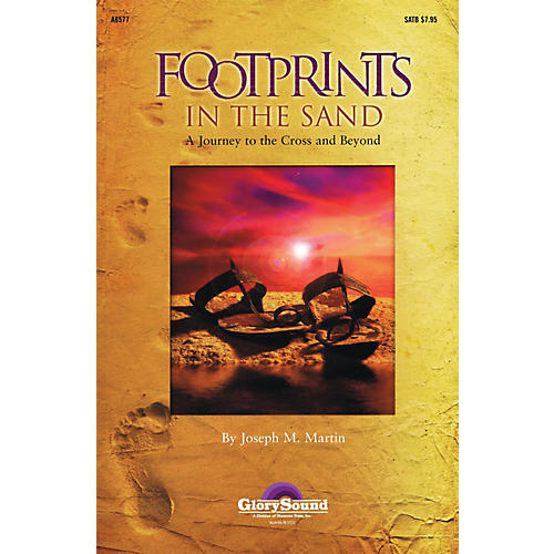 Shawnee Press Footprints in the Sand (SATB) SATB composed by Joseph Martin-thumbnail