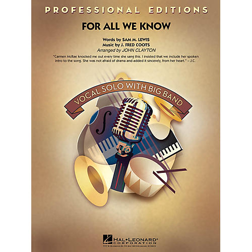 Hal Leonard For All We Know Jazz Band Level 5 by Carmen McRae Arranged by John Clayton-thumbnail