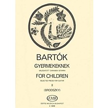 Editio Musica Budapest For Children, Volume 2 (Guitar Solo) EMB Series Composed by Béla Bartók