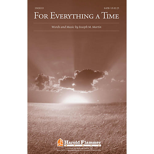 Shawnee Press For Everything a Time SATB composed by Joseph M. Martin-thumbnail