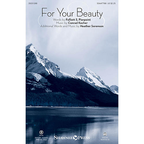 Shawnee Press For Your Beauty SSAATTBB arranged by Heather Sorenson-thumbnail