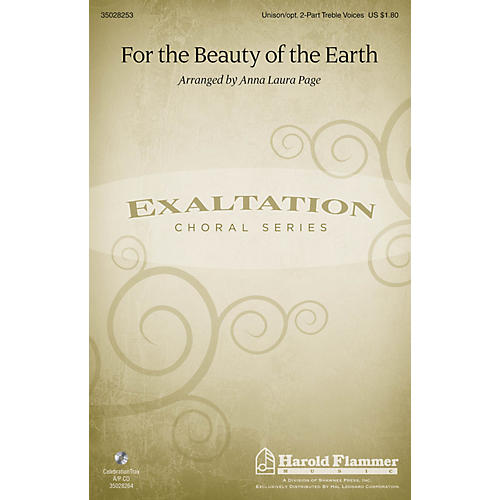 Shawnee Press For the Beauty of the Earth Unison/2-Part Treble arranged by Anna Laura Page-thumbnail