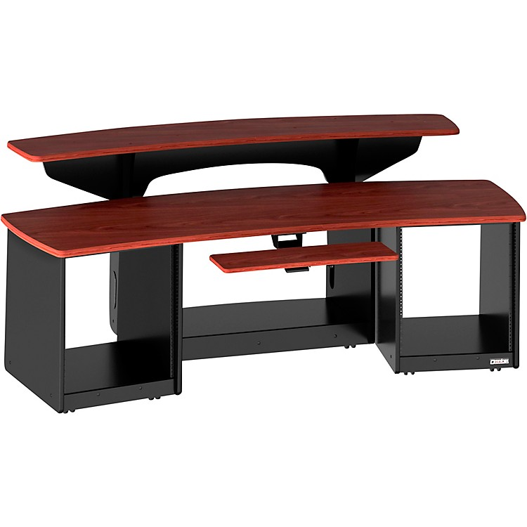 Omnirax Force 24 Studio Desk Mahogany