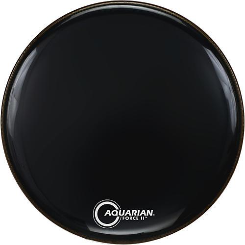 Aquarian Force II Resonant Bass Drum Head Black 20 in.