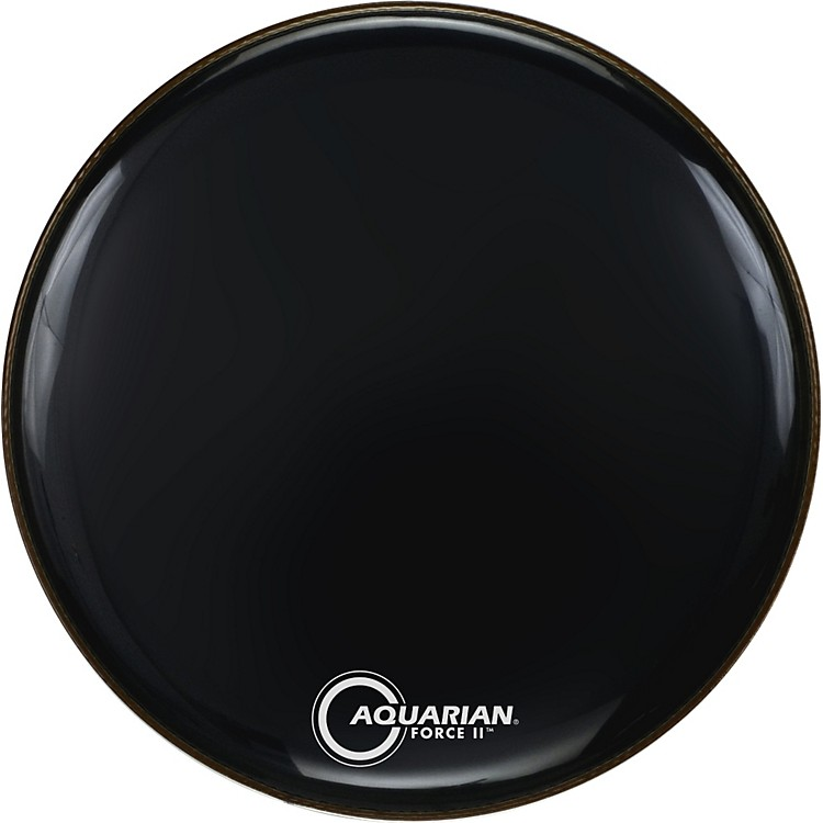 Aquarian Force II Resonant Bass Drum Head Black 24 Inch