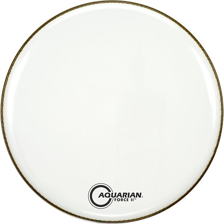 AquarianForce II Resonant Bass Drum HeadWhite24 Inch