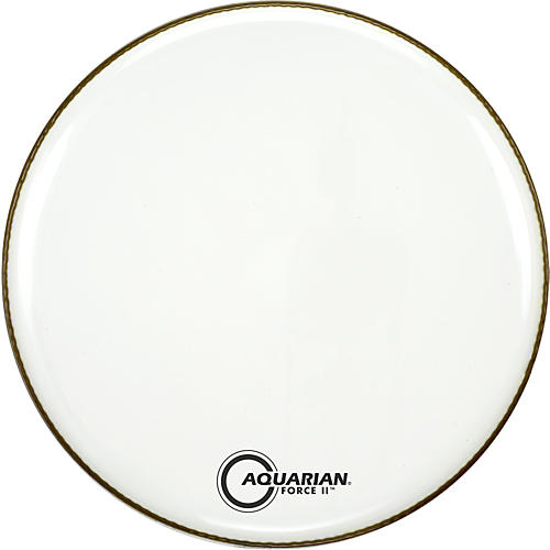 Aquarian Force II Resonant Bass Drum Head White 24 in.
