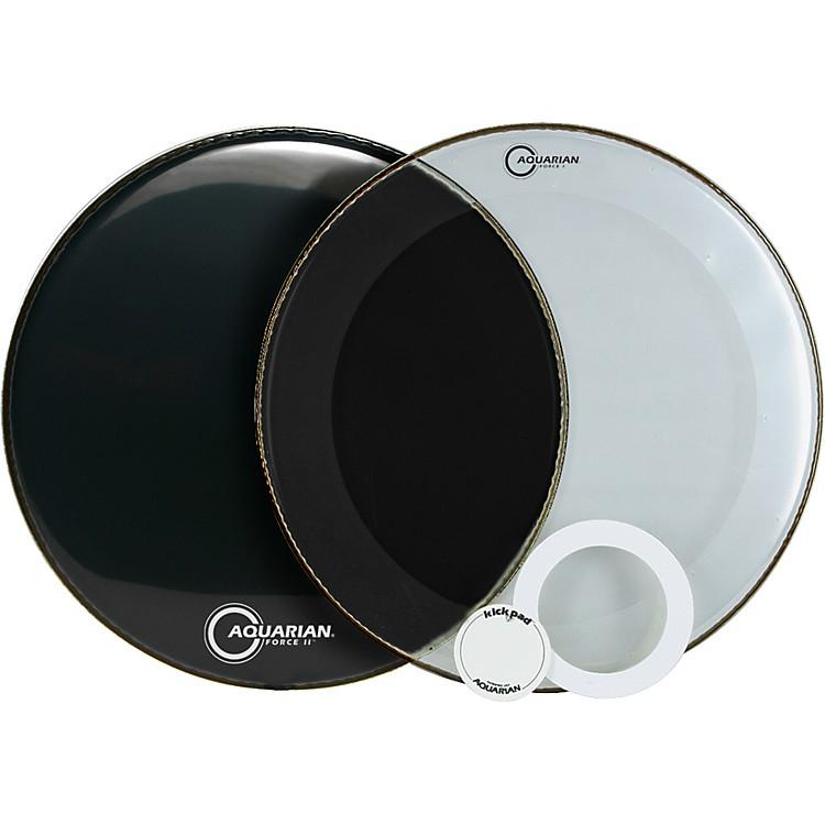 AquarianForce Series Bass Drum Head PakBlack24 Inch