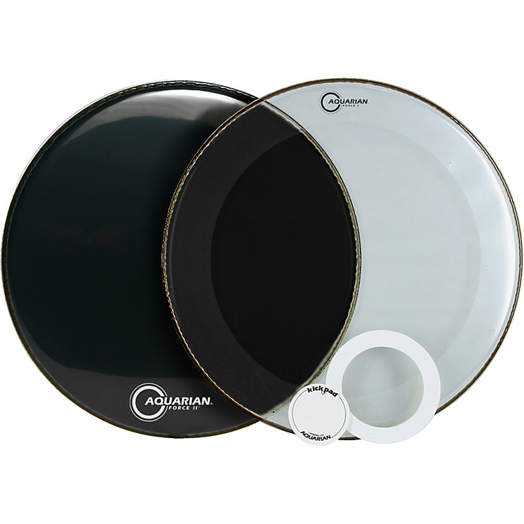 Aquarian Force Series Bass Drum Head Pak Black 22 Inch