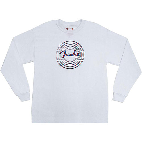 Fender Forever Loud 3-D Long Sleeve Shirt White Medium