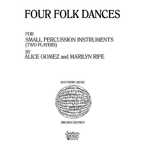 Hal Leonard Four ( 4) Folk Dances (Percussion Music/Percussion Ensembles) Southern Music Series by Gomez, Alice-thumbnail
