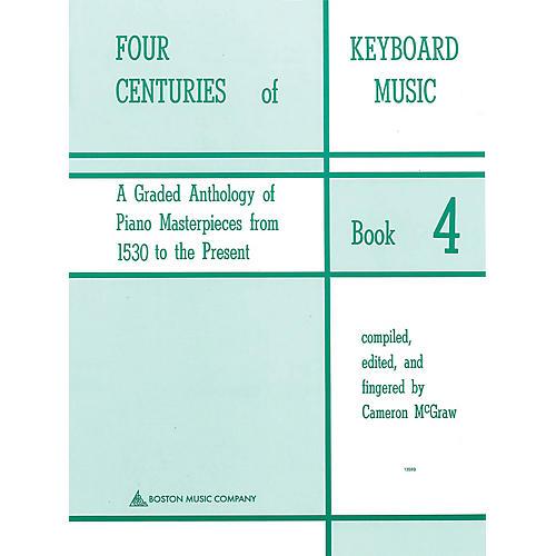Music Sales Four Centuries Of Keyboard Music Book 4 Music Sales America Series
