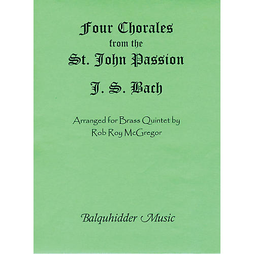 Carl Fischer Four Chorales from St. Johns Passion Book