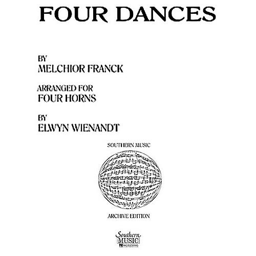 Southern Four Dances (Horn Quartet) Southern Music Series Arranged by Elwyn Wienandt-thumbnail