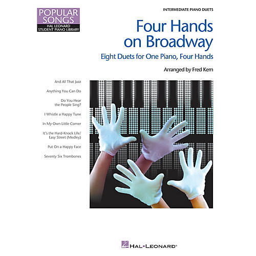 Hal Leonard Four Hands on Broadway Piano Library Series Book (Level Inter to Late Intermedi)-thumbnail