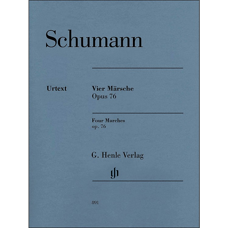 G. Henle Verlag Four Marches Op. 76 Piano Solo By Schumann / Herttrich