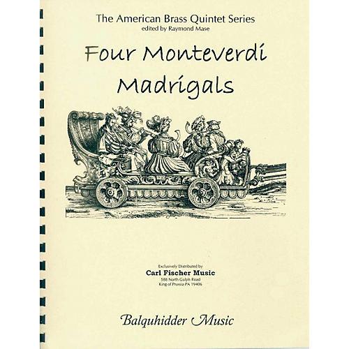 Carl Fischer Four Monteverdi Madrigals Book
