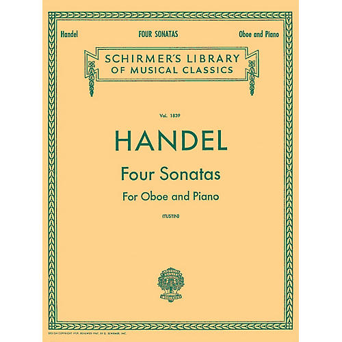 G. Schirmer Four Sonatas (for Oboe & Piano) Woodwind Solo Series by George Frideric Handel-thumbnail