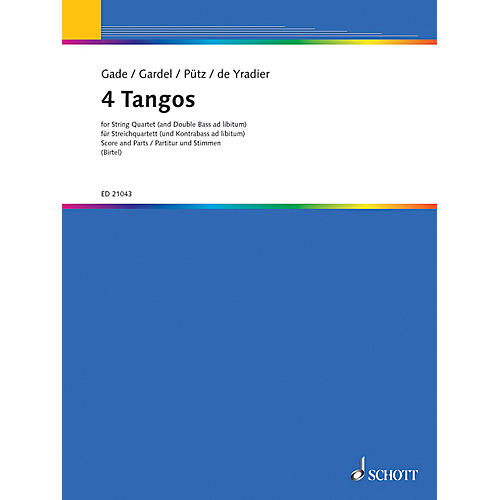 Schott Four Tangos Schott Series Composed by Various Arranged by Wolfgang Birtel-thumbnail