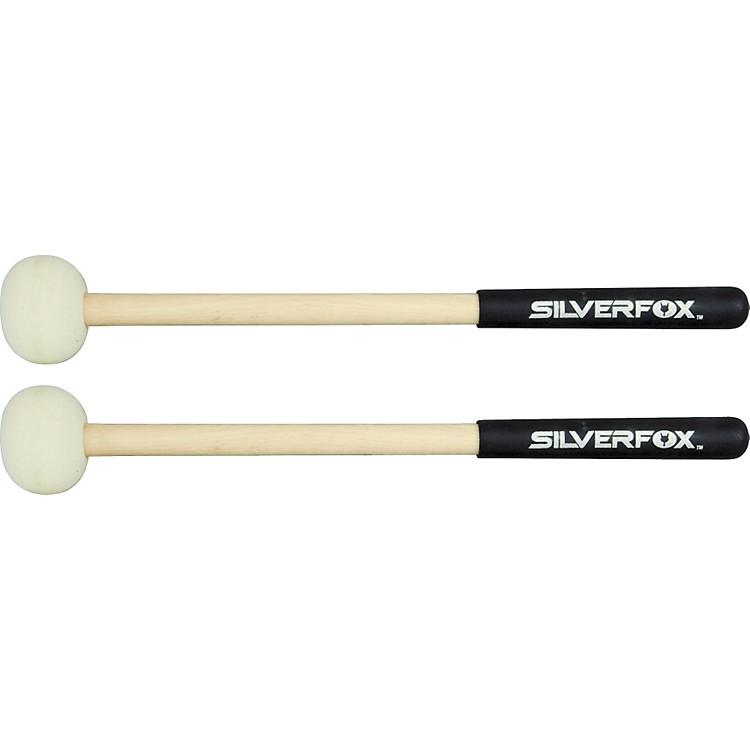 SilverFoxFox Stix Wood Shaft Marching Bass Mallets