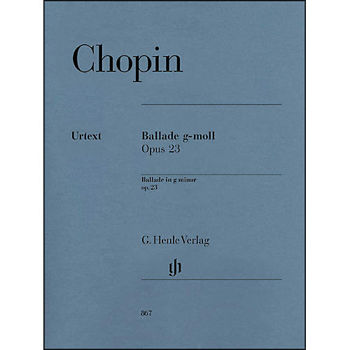 G. Henle Verlag Frédéric Chopin - Ballade in G minor Op. 23 for Piano