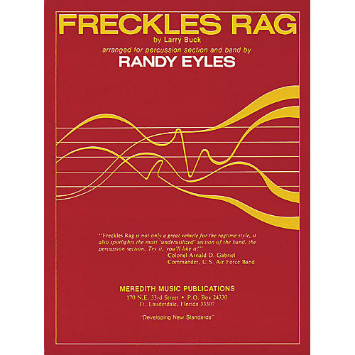 Hal Leonard Freckles Rag (for Percussion Section and Band) Meredith Music Resource Series Arranged by Randy Eyles-thumbnail