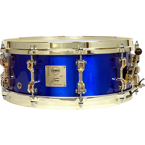 GMS Freddie Holliday Signature Snare Drum Cobalt Blue 5.5X14