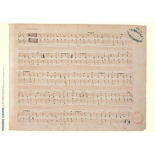 Axe Heaven Frederic Chopin Music Manuscript Poster - Ballade in F Major, Op. 38 for piano-thumbnail