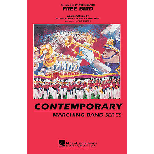Hal Leonard Free Bird Marching Band Level 3-4 by Lynyrd Skynyrd Arranged by Tim Waters-thumbnail