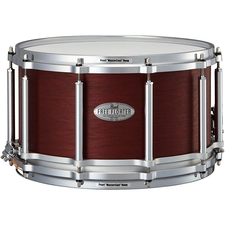 pearl free floating african mahogany snare drum 14x8 inch musician 39 s friend. Black Bedroom Furniture Sets. Home Design Ideas