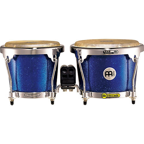 Meinl Free Ride Series FFB200 Fiberglass Bongos 6.75 and 8 in. Blue Sparkle