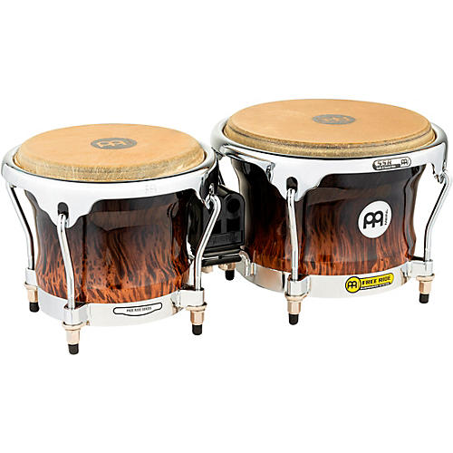 Meinl Free Ride Series High Gloss Wood Bongos Brown Burl 7 in. and 8-1/2 in.