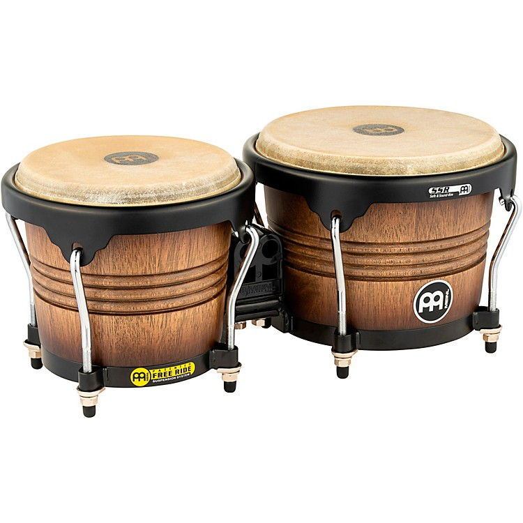 Meinl Free Ride Series Matte Wood Bongos Antique Tobacco Burst 6.75 & 8 Inch