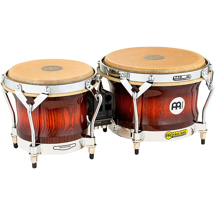 Meinl Free Ride Series Woodcraft Bongos ANTIQUE MAHOGANY BURST 7 inch and 9 inch