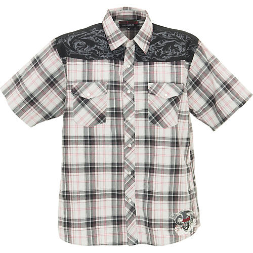 Rock House Los Angeles Freedom Eagle Short Sleeve Buttoned Shirt-thumbnail