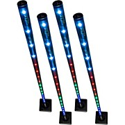 Freedom Stick 4-Pack Battery-Powered LED Effect/Stage Lights with Carrying Bag and IRC-6 Remote