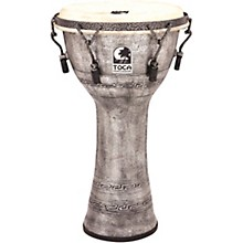 Toca Freestyle Antique-Finish Djembe Level 1 10 in. Silver