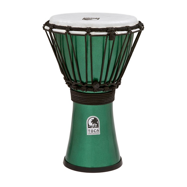 Toca Freestyle ColorSound Djembe Metallic Green 7 Inch