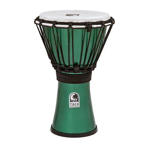 Toca Freestyle ColorSound Djembe Metallic Green 7 in.