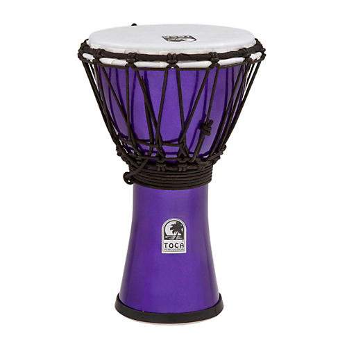 Toca Freestyle ColorSound Djembe Metallic Indigo 7 in.
